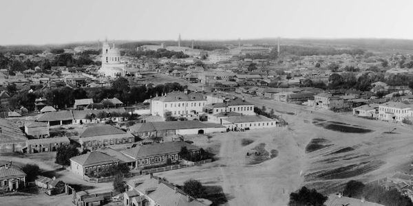 01 Троицкая церковь и село Озерки (фото конца 19 века)